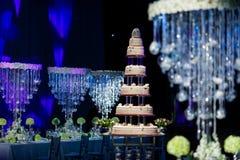 Wedding Cake. A tiered wedding cake at wedding Stock Image