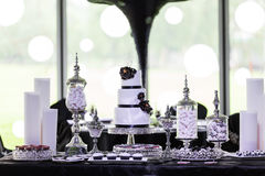 Wedding Cake. A tiered wedding cake at wedding Royalty Free Stock Photography