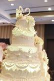 Wedding cake. A top white wedding cake Royalty Free Stock Photos