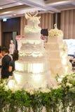 Wedding cake. A top white wedding cake Royalty Free Stock Image