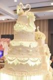 Wedding cake. A top white wedding cake Stock Images