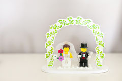 Wedding cake topper royalty free stock photos