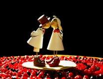 Wedding cake topper Stock Photos
