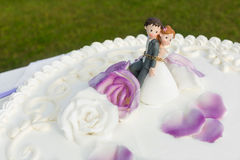 Wedding cake topper royalty free stock photography