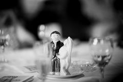Wedding cake topper figurine bridegroom bride Stock Image