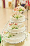 Wedding Cake with Two Swans Royalty Free Stock Photos