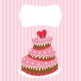 Wedding cake, valentine's day Royalty Free Stock Image