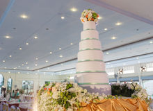 Wedding cake for wedding ceremony Royalty Free Stock Images