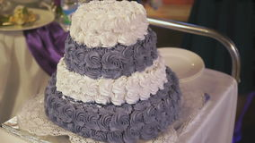 Wedding cake for the wedding stock video footage
