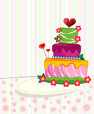 Wedding cake for Wedding invitations or announceme Stock Images