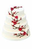 Wedding Cake On White Background Royalty Free Stock Photos
