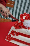 Wedding cake. White red love Royalty Free Stock Photography