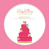 Wedding Cakes Invitation Stock Image