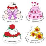 Wedding cakes. Set of images of wedding cakes Stock Image