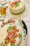 Wedding cakes on the table. Nice wedding cakes on the table Stock Photos