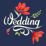 Wedding calligraphic inscription 2 Royalty Free Stock Image