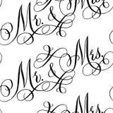 Wedding calligraphy seamless pattern