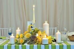 Wedding candle table arrangement Stock Photography