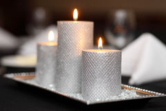 Wedding Candle Trio Royalty Free Stock Images