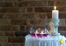 Wedding candles Stock Photos