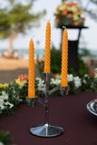 Wedding candlestick Royalty Free Stock Images