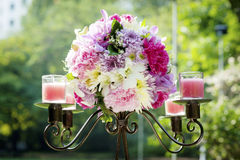 Wedding candlestick Stock Photos