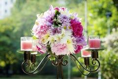 Wedding candlestick stock photos