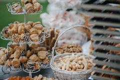 Wedding candy bar with bread sticks Stock Image