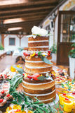 Wedding candy bar,  cake Stock Photography