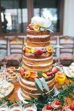Wedding candy bar,  cake Stock Photo