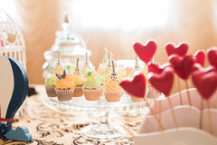 Wedding Candy Bar Live Stock Images