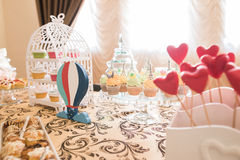 Wedding Candy Bar Live Stock Image