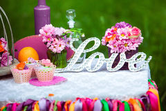 Wedding candy bar Stock Photography