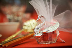 Wedding Candy Box. Swan model of wedding candy box Stock Photos