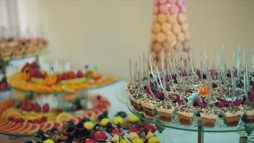 Wedding Candy Buffet stock video footage