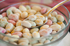 sugared almonds Stock Image