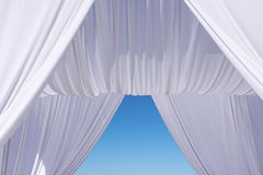 Wedding canopy. Under blue sky stock illustration