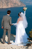 Wedding. At Cape Fiolent against the sea Stock Images