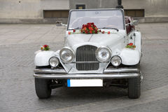 Wedding car. White wedding car Royalty Free Stock Images