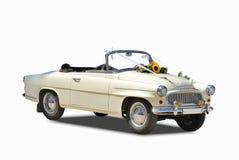 Wedding car. Isolated on white background Stock Photo