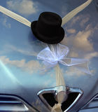 Wedding car. With a hat Royalty Free Stock Photos