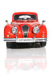 Wedding Car. Just Married On Front Number Plate Of The Bride & Grooms Wedding Car Stock Images