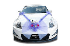 Wedding car. This is the Asian wedding car Stock Photography