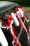 Wedding car. Wedding limousine decorated with flowers Stock Images