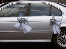 Wedding car. Car decorated for a wedding royalty free stock photos