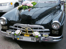 The wedding car. In the street cities Royalty Free Stock Photo