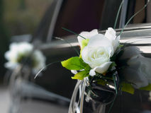 Wedding car. With beautiful decorations Royalty Free Stock Image