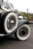 The wedding car. Classic car used as a wedding car Stock Image