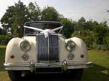 Wedding Car. Vintage Wedding Car royalty free stock photo