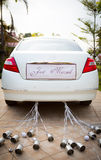 Wedding car with beautiful flower Royalty Free Stock Photography